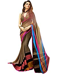 LORD'S Georgette Saree(SBY6107_Multi_Free Size)