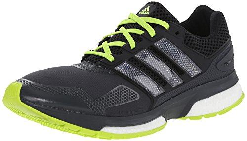 Adidas Response-Boost 2 Techfit Herrenlaufschuh 6 White-Onix Grey / Black / Solar Yellow