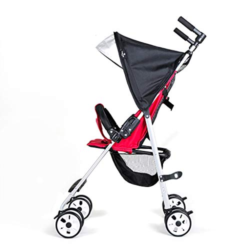 Facing sun Der ultraleichte Kinderwagen lässt sich leicht zusammenklappen und kann im Sitzen oder Liegen getragen werden. Er ist mit einer nicht versenkten Rückenlehne, einem Fünfpunkt-Sicherheitsgu