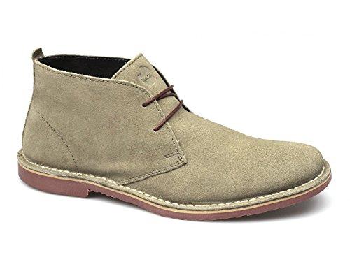 Ikon A. K.-daim à lacets de chaussures-Taupe Beige - Taupe