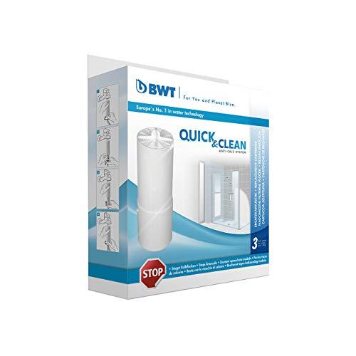 BWT - 812915 - Filterkartuschen für Quick & Clean Antikalk-Filtersystem für Duschfilter - 3 Stück im Set