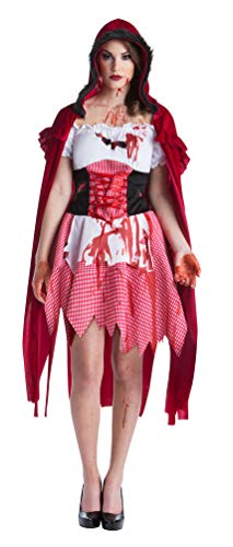 Gruselig Rotkäppchen Kostüm - Karneval-Klamotten Zombie Rotkäppchen Damen Kostüm blutiges Rotkäppchen Größe 46/48