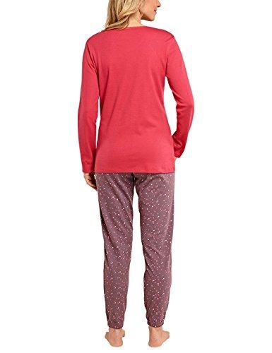Schiesser Selected Premium Anzug Lang, Ensemble de Pyjama Femme Marron - Braun (dunkelbraun 301)