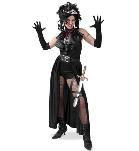 leid 3tlg Body,Gürtel-Rock,Jabot Gr. 42 (Teufel Halloween Kostüme Für Erwachsene)