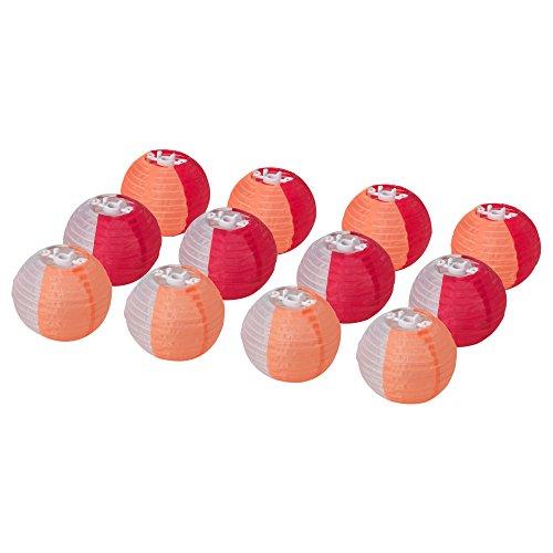 IKEA Solarleuchte Dekokugeln für Lichterketten 12 Stück (orange)
