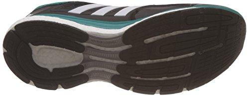 adidas Supernova Glide 8, Chaussures de Course Homme, Bleu, 42 EU Noir / Blanc / Vert (Negbas / Ftwbla / Eqtver)