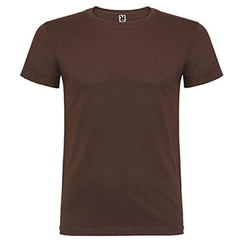 Camiseta de manga corta, de cuello redondo ROLY (L, CHOCOLATE)
