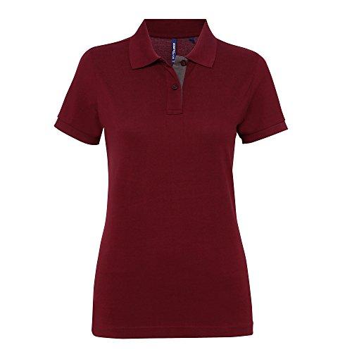 Asquith & Fox - Polo en contraste - Femme Noir/Rouge