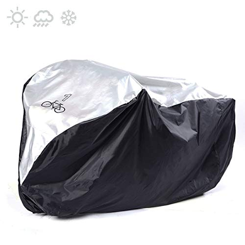 HAPPYX wasserdichte Fahrradabdeckung, Fahrrad Aufbewahrungstasche Tragbare Leichte Hochleistungs Anti Staub Regen Schnee Wind UV Schutz für Außen Außen & Aufbewahrungstasche (Anti Wind Leichter)