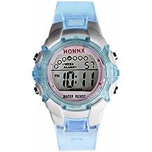 Cebbay Reloj de regalo de liquidación Niños a prueba de agua Niñas Digital LED Fecha de