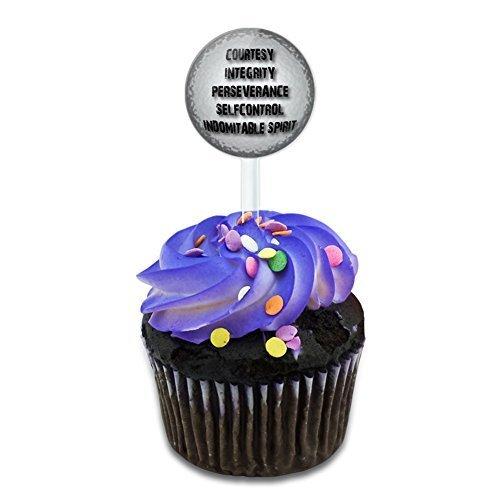 Fünf Grundsätze des Taekwondo Kuchen, Cupcake Picks Set hergestellt auf Terra (Backens Des Grundsätze)