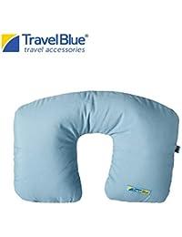 Travel Blue Cotton Inflatable Travel Neck Pillow