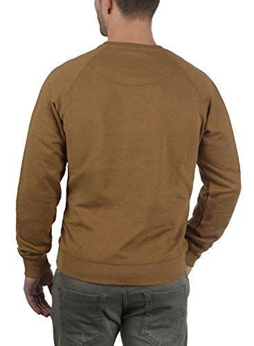 BLEND Alex Herren Sweatshirt Pullover Sweater mit Rundhalskragen aus hochwertiger Baumwollmischung Dark Mustard (75116)
