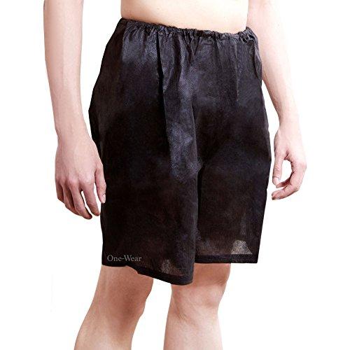 Wegwerfbar Boxershorts (5 Pack) - EINE GRÖSSE Supersoft Leicht Unterwäsche für den Einweggebrauch ideal für Reisen Krankenhäuser Spa Massagen Sauna Sonnenstudio in Notsituationen (Schwarz - 2 Pakets)
