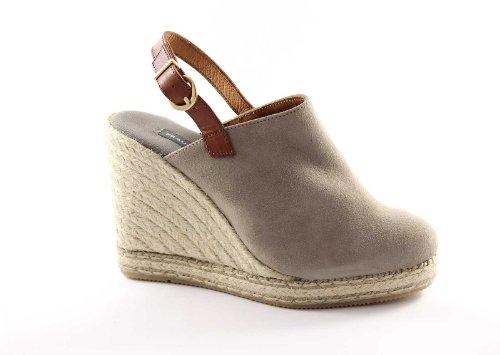 FRAU 84A5 taupe scarpe donna sandali espadrillas zeppa corda 39
