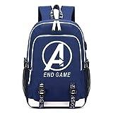 Memoryee Mochila Escolar Avengers Mochila de Ordenador portátil Impresa Mochila multifunción con...