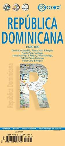 Dominican Republic, Dominikanische Republik, Borch map: Dominican Republic, Puerto Plata & Region, Puerto Plata, Santiago, Santo Domingo & Region, ... Domingo, Punta Cana & Region (Borch Maps)