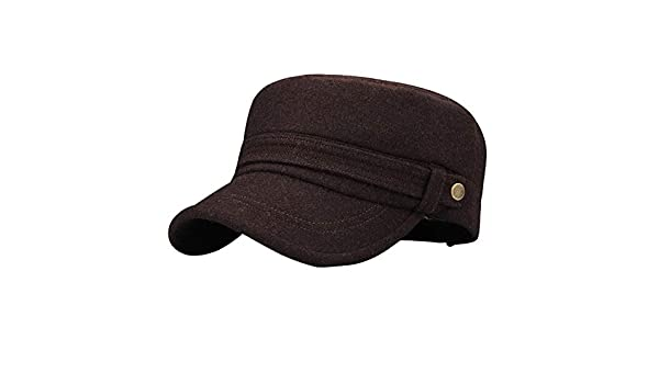 GAZHFERY Winter Middle-Aged Men Warm Flat Hat