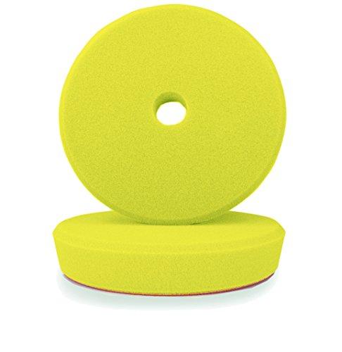 ALCLEAR 50163M Polierpad, Medium für RUPES® Maschinen, Durchmesser : 163/150 x 30 mm, gelb ,2er Set