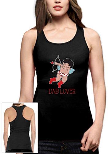 Green Turtle T-Shirts Lustiger Valentinstag Amor - Dab Lover Racerback Tank Top Medium Schwarz