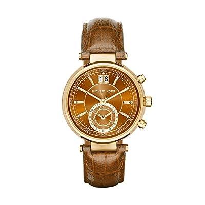 Michael Kors MK2424 - Reloj de cuarzo con correa de piel para mujer, color marrón