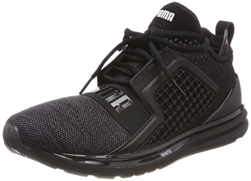 Puma ignite limitless knit, scape per sport outdoor uomo, nero black silver, 42 eu