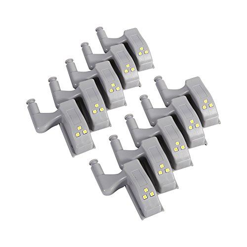 10pz Universale Luce Bianca LED Lampadina Per Gabinetto Cerniera Sistema Della Cucina Della Casa Moderna (Cerniera Sistema)