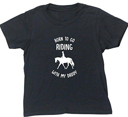 Hippowarehouse Mädchen T-Shirt Gr. 11 Jahre, Schwarz Equestrian Grooming Tote