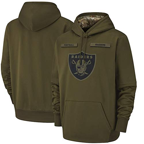ATI-HSKJ Männer Kapuzenpullover American Football Sport American Football-Trikots Pullover Casual Langarmshirts Pullover Oakland Raiders Jacke,185~190CM
