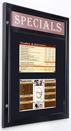 displays2go Outdoor Bulletin Board, magnetische Oberfläche, 61x 78,7cm, Wandhalterung (odm851431hs) (Bulletin Magnetische Board)
