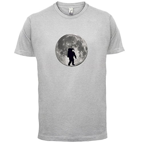 Astronaut On The Moon - Herren T-Shirt - 13 Farben Hellgrau