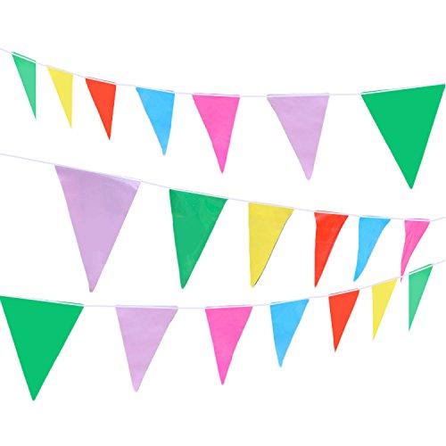 lor Kunststoff Wimpel Banner Flags Dekoration für Hallenbad Outdoor Hochzeit Picknicks Partei Festivals Geburtstag (Kunststoff Wimpel Banner)