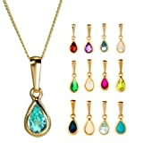 9ct Gold Birthstone Gemstone Pendant / Pendants