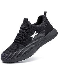 Zapatos de Seguridad para Hombres ultraligeros Zapatos de Acero con Punta de Seguridad, Zapatillas industriales Transpirables y cómodas