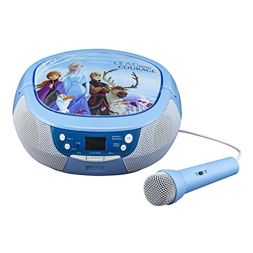 Disney Eiskönigin 2 / Frozen 2 Tragbarer CD-Player mit Radio & Mikrofon für Kinder - eKids FR-430V2