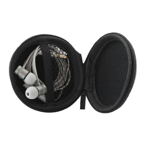 iProtect Schutztasche Hülle Box für Kopfhörer Ohrstöpsel u.A. / inkl. Netztasche schwarz