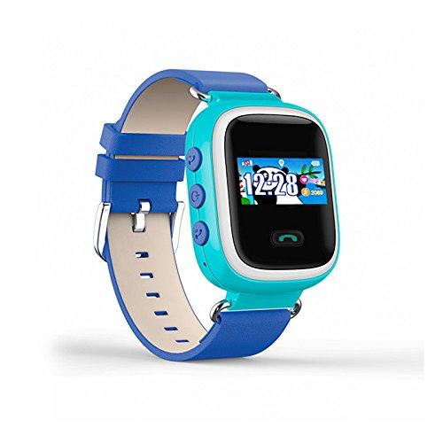 Lemumu Q60 ansehen Touch ScreenPositioning Smartwatch Kinder SOS-Anruf Location Finder Gerät Anti verloren, Blau