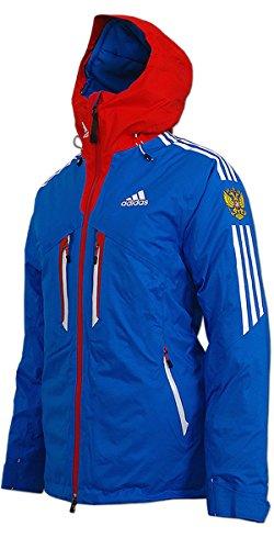 adidas Damen Coach Ski Jacke Russia (blau-rot, 38)