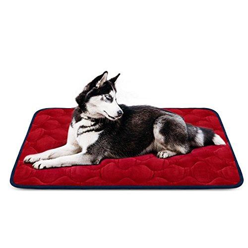 Auto-hund-bett (Weiche Hundebett Große Hunde Luxuriöse Hundedecken Waschbar Orthopädisches Hundekissen Rutschfeste Hundematte Rot Grosse HeroDog)