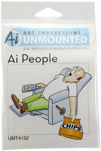 art-impressions-people-cling-rubber-stamp-4x6-lazy-boy