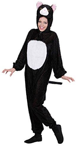 Widmann 9930C - Erwachsenenkostüm Katze, Overall mit Maske, Größe XL (Halloween Männer Verkleiden)