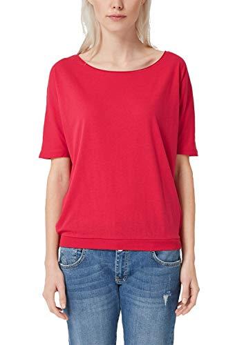 Q/S Designed by Damen 45.899.32.5171 T-Shirt, Rosa (Porcelain 3334), Small (Herstellergröße: S)