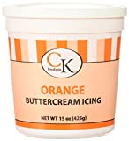 CK Products 77-66091 Buttercream Icing Cake Topper, 15 oz, Orange by CK Products