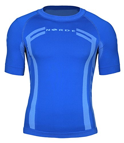Norde Herren Funktionswäsche Thermoaktiv Atmungsaktiv Base Layer Kurzarm Outdoor Radsport