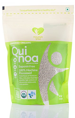 NourishYou Organic White Quinoa Seeds, 500G (Single Pack)