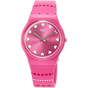 Swatch Womens Analogue Quartz Watch with Silicone Strap GP160