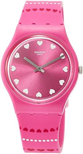 Swatch Damen Analog Quarz Uhr mit Silikon Armband GP160