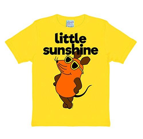 Die Sendung mit der Maus - Die Maus - Little Sunshine Kinder T-Shirt - gelb - Lizenziertes Originaldesign - LOGOSHIRT - Lizenziertes Originaldesign, Größe 104/116, 4-6 Jahre (T-shirt Tasse Gelb)