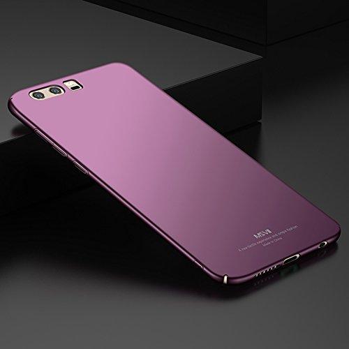 Huawei Honor 9 (5,15 Zoll) Hülle, MSVII® Sehr Dünn Hülle Schutzhülle Case Und Displayschutzfolie für Huawei Honor 9 (5,15 Zoll) - Lila JY00260 Lila