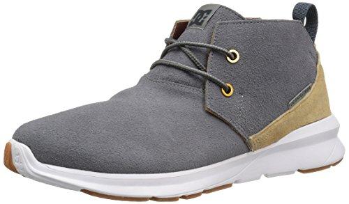 DC Mens Ashlar Skateboarding Shoe Grey/Grey/White